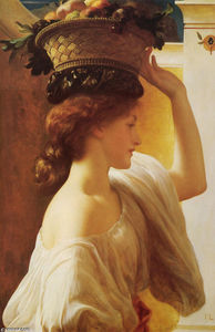 Lord Frederic Leighton - Eucharis - A Girl with a Basket of Fruit