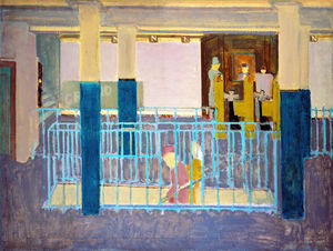 Mark Rothko (Marcus Rothkowitz) - Entrance to Subway (Subway Station.Subway Scene)