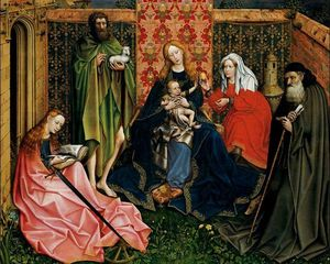 Robert Campin (Master Of Flemalle) - Madonna and Child with Saints in an Enclosed Garden