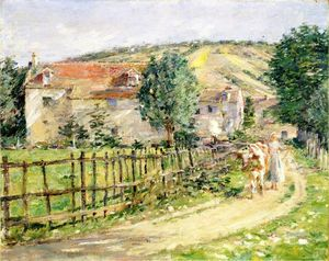 Theodore Robinson - Road by the Mill