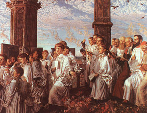 William Holman Hunt - May Morning on Magdalen T..