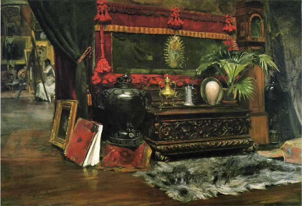 A Corner of My Studio, Oil On Canvas by William Merritt Chase (1849-1916, United States)