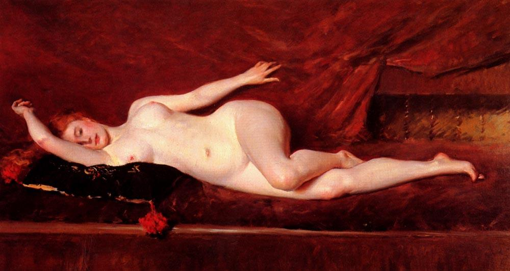 A Study in Curves, 1890 by William Merritt Chase (1849-1916, United States) | Art Reproduction | ArtsDot.com