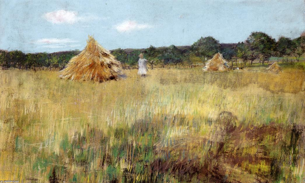 Grain Field, Shinnecock Hills, Pastel by William Merritt Chase (1849-1916, United States)
