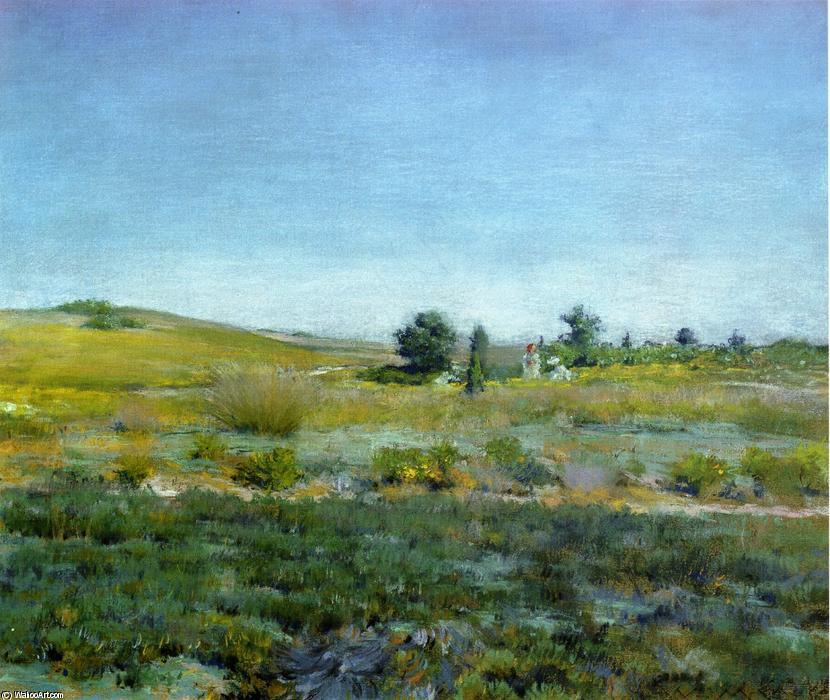 Gray Day in Spring (aka Summer), Oil by William Merritt Chase (1849-1916, United States)