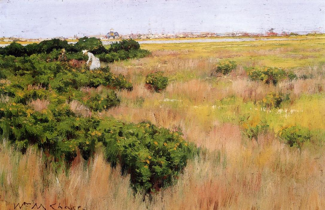 Landscape near Coney Island, 1886 by William Merritt Chase (1849-1916, United States)