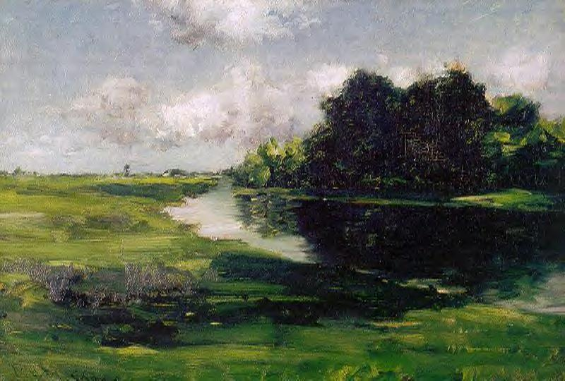 Long Island Landscape after a Shower of Rain, Oil On Canvas by William Merritt Chase (1849-1916, United States)