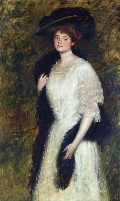Ms. Helen Dixon, Oil On Canvas by William Merritt Chase (1849-1916, United States)
