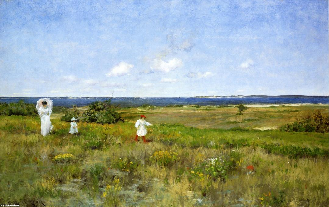 Near the Beach, Shinnecock, Oil On Canvas by William Merritt Chase (1849-1916, United States)
