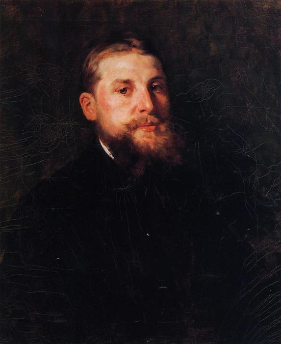 Portrait of a Gentleman, Oil On Canvas by William Merritt Chase (1849-1916, United States)
