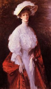 William Merritt Chase - Portrait of Miss Frances V. Earle