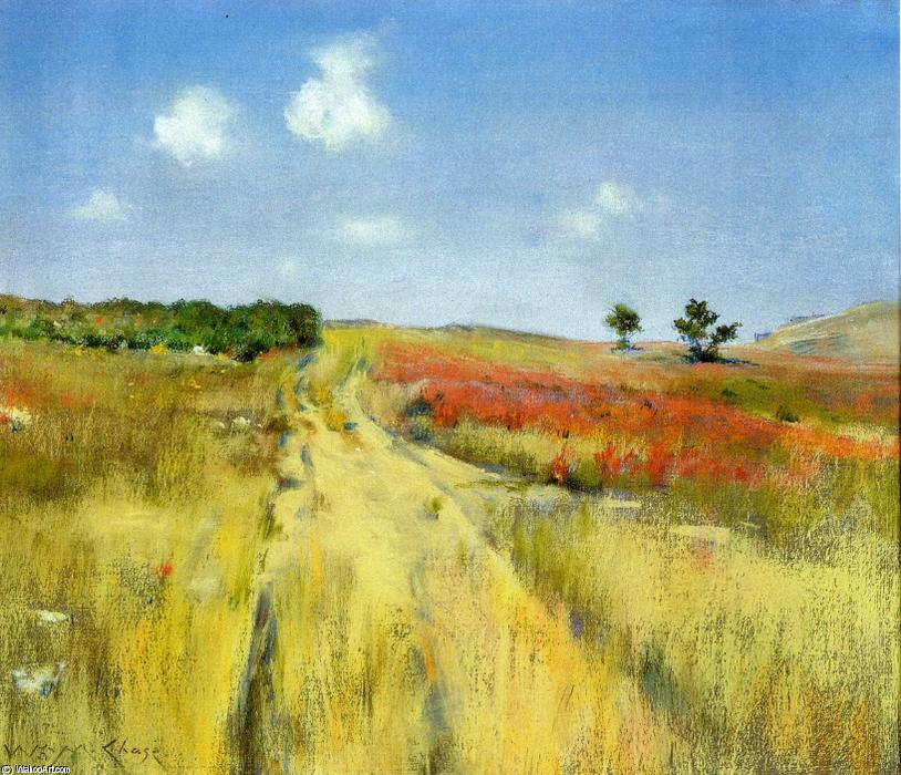 Shinnecock Hills 3, Oil by William Merritt Chase (1849-1916, United States)