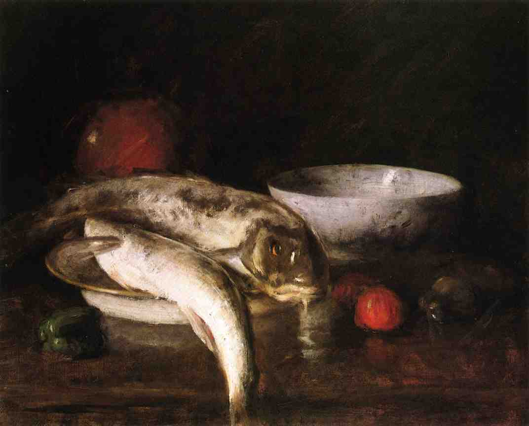 Still Life with Fish, Oil On Canvas by William Merritt Chase (1849-1916, United States)