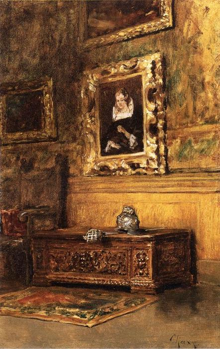 Studio Interior, Oil On Canvas by William Merritt Chase (1849-1916, United States)