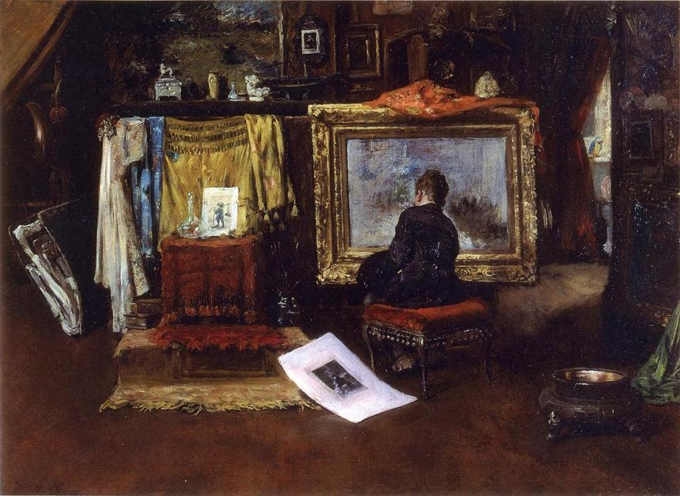 The Inner Studio, Tenth Street, Oil On Canvas by William Merritt Chase (1849-1916, United States)