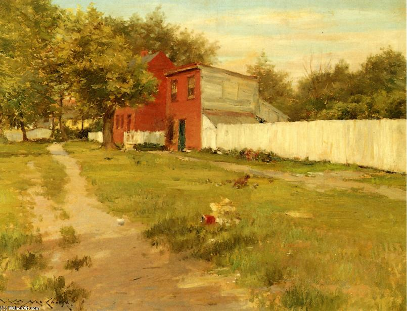 The White Fence by William Merritt Chase (1849-1916, United States)