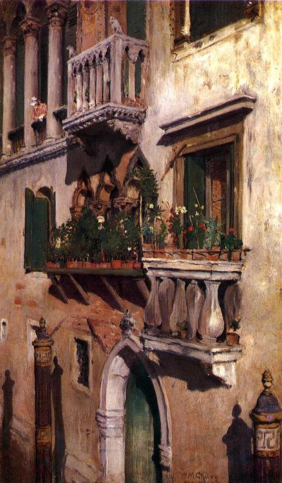Venice, Oil On Canvas by William Merritt Chase (1849-1916, United States)
