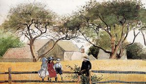 Winslow Homer - Children on a Fence
