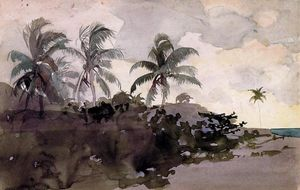 Winslow Homer - Coconut Palms