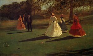 Winslow Homer - Croquet Players