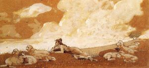 Winslow Homer - Girl and Sheep