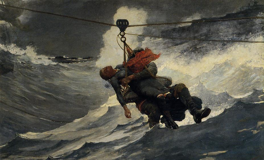The Life Line, 1884 by Winslow Homer (1836-1910, United States) | Art Reproduction | ArtsDot.com