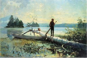 Winslow Homer - The Trapper, Adirondacks