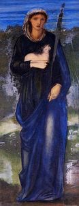Edward Coley Burne-Jones - St. Agnes