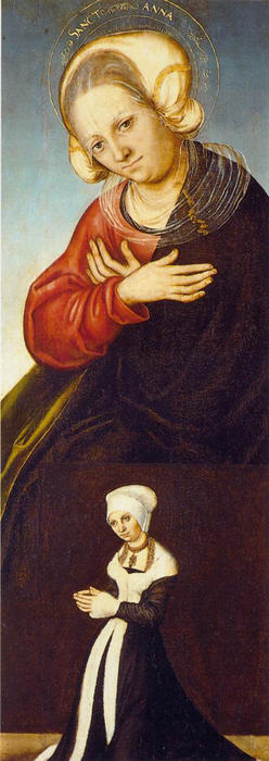 St. Anne, Oil by Lucas Cranach The Elder (1472-1553, Germany)