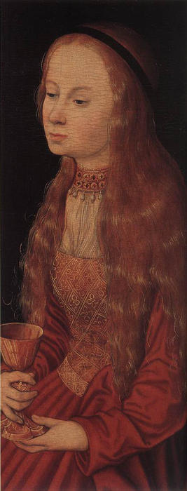 Order Museum Quality Reproductions : St. Barbara by Lucas Cranach The Elder (1472-1553, Germany) | ArtsDot.com