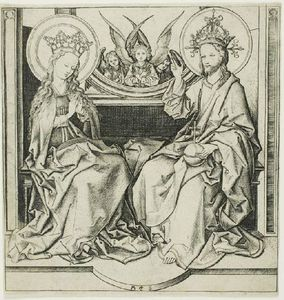 Martin Schongauer - Chirst blessing the virgi..