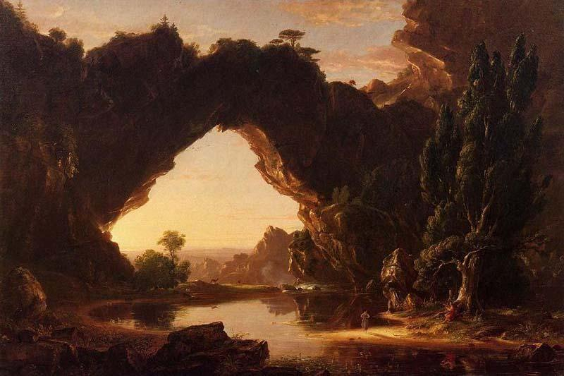 An Evening in Arcadia, Oil On Canvas by Thomas Cole (1801-1848, United Kingdom)
