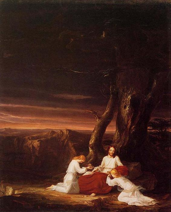 Angels Ministering to Christ in the Wilderness, Oil On Canvas by Thomas Cole (1801-1848, United Kingdom)