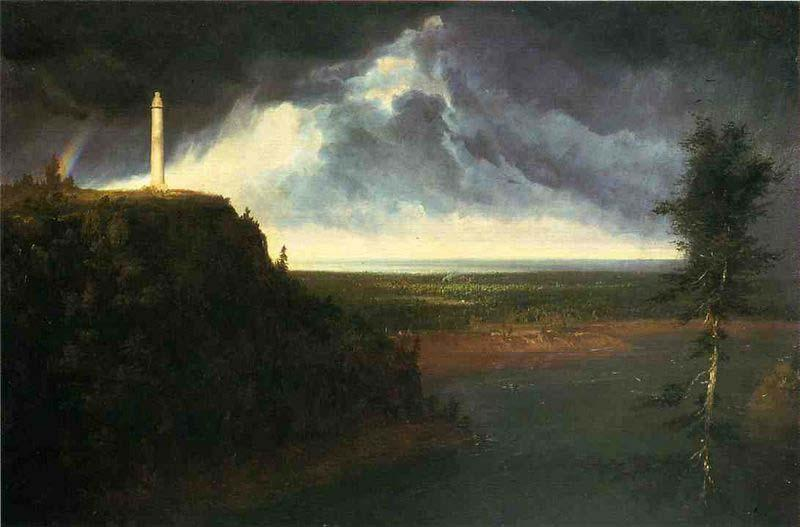 Brock's Monument, Oil by Thomas Cole (1801-1848, United Kingdom)
