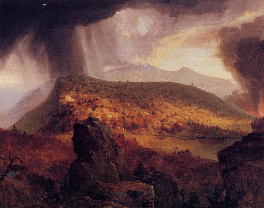 Catskill Mountain House, The Four Elements, Oil On Canvas by Thomas Cole (1801-1848, United Kingdom)