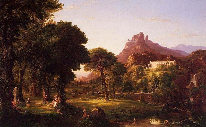 Dream of Arcadia, Oil On Canvas by Thomas Cole (1801-1848, United Kingdom)