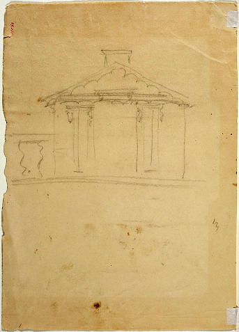 Free Hand Drawing of Elevat, Oil by Thomas Cole (1801-1848, United Kingdom)