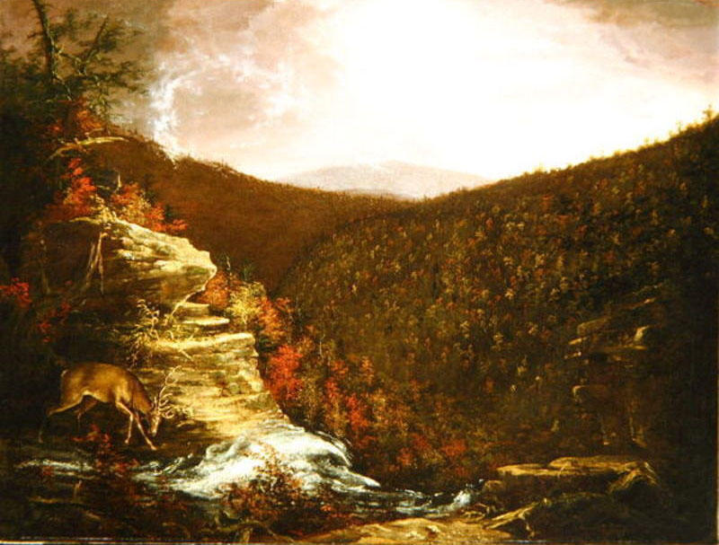 From the Top of Kaaterskill Falls, Oil On Canvas by Thomas Cole (1801-1848, United Kingdom)