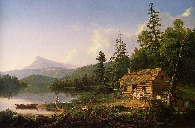 Home in the Woods, Oil On Canvas by Thomas Cole (1801-1848, United Kingdom)