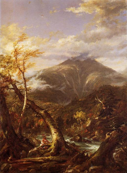 Indian Pass Tahawus, Oil On Canvas by Thomas Cole (1801-1848, United Kingdom)