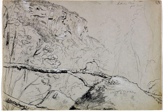 Indian Pass, Drawing by Thomas Cole (1801-1848, United Kingdom)