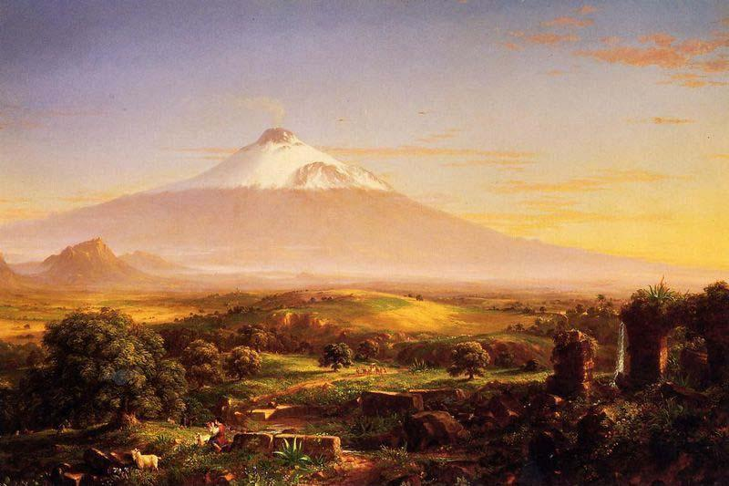 Mount Etna, Oil On Canvas by Thomas Cole (1801-1848, United Kingdom)