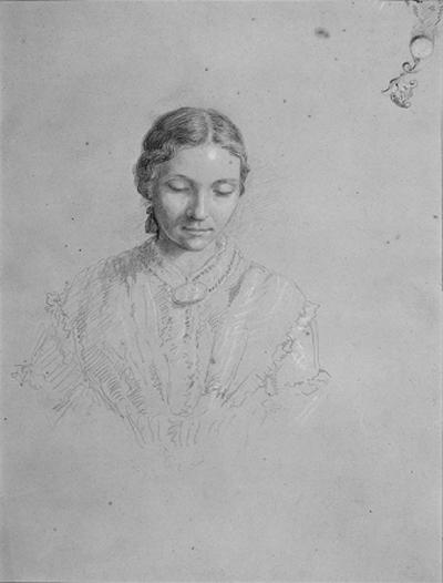 Portrait of the Artist's Wife, Illustration by Thomas Cole (1801-1848, United Kingdom)