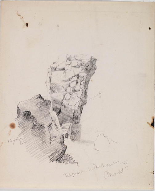 Pulpit Rock near Nahant, Illustration by Thomas Cole (1801-1848, United Kingdom)