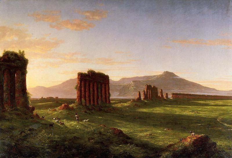 Roman Campagna, Oil On Canvas by Thomas Cole (1801-1848, United Kingdom)