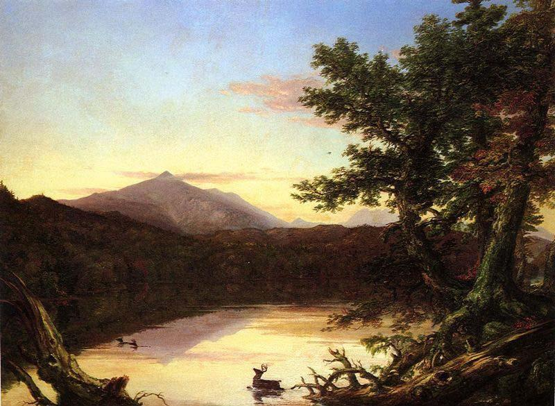 Schroon Lake, Oil On Canvas by Thomas Cole (1801-1848, United Kingdom)