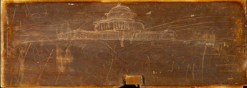 Sketch for Ohio State Capit, Oil by Thomas Cole (1801-1848, United Kingdom)