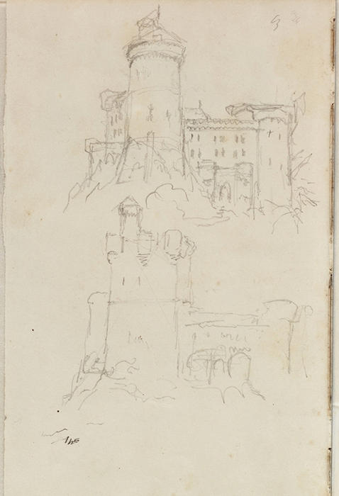 Study, architectural view 4, Illustration by Thomas Cole (1801-1848, United Kingdom)