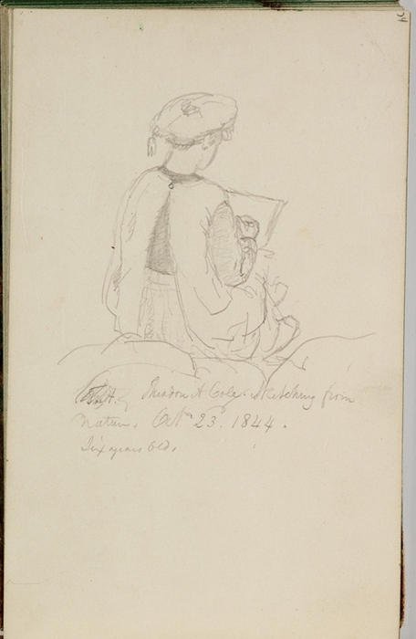 Study, Figure 4, Illustration by Thomas Cole (1801-1848, United Kingdom)