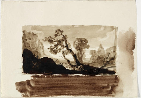 Study, Landscape 9, Oil by Thomas Cole (1801-1848, United Kingdom)